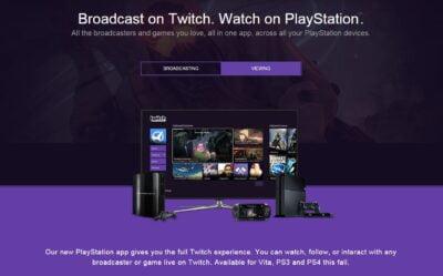 Twitch PS Vita était visible dès 2015 sur certains supports publicitaires !