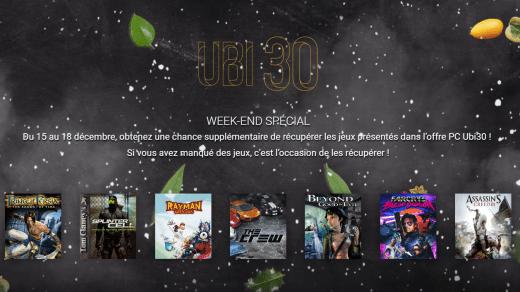 Vous avez tout ce week end pour récupérer vos jeux !