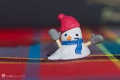 Un chewing gum en forme de bonhomme de neige :) !