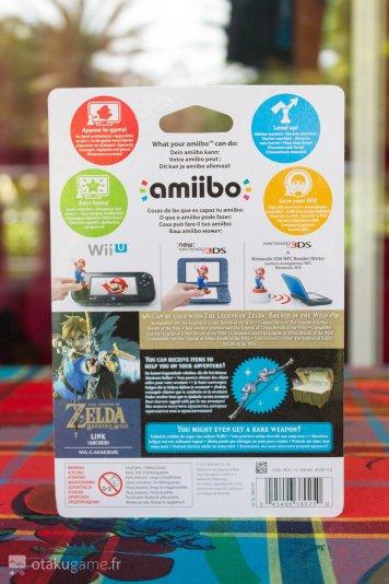 Boîte Amiibo Zelda Breath of The Wild