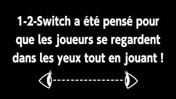 1-2 Switch précise clairement qu'il n'est pas basé sur le visuel. Original pour un jeu vidéo :) !