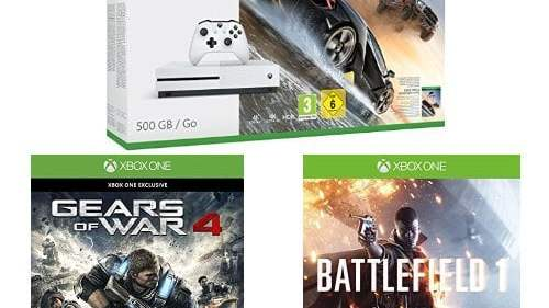 La Xbox One avec 3 jeux à moins de 270€ !