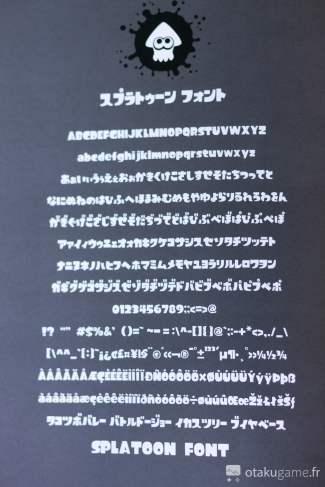 Y'a même l'alphabet de Splatoon !