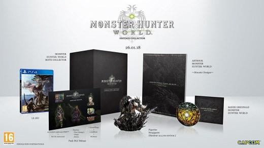 L'édition collector de Monster Hunter World sur PS4 (France)