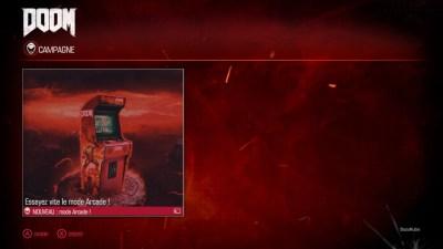 L'écran de sélection du mode de jeu DOOM ^^ !