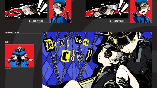 Une des planches de The Art of Persona 5