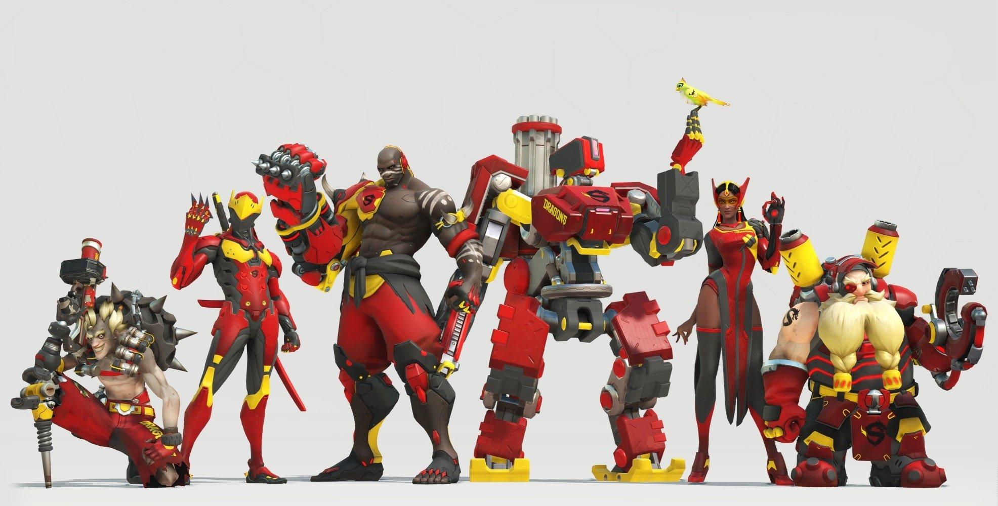 Skins Overwatch Shangai Dragons