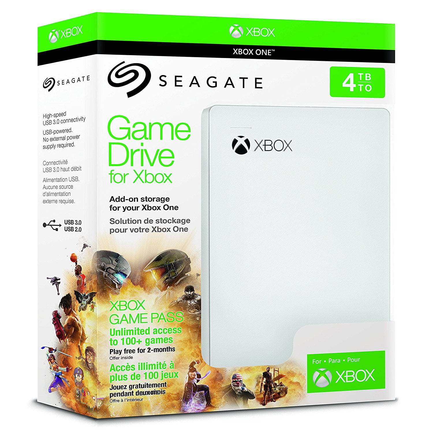 Le Disque Dur Officiel Seagate Xbox One Game Pass 4To