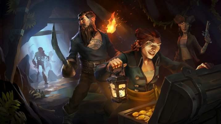 Pirates Looting Treasure Cave