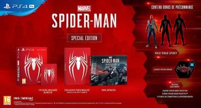 L'édition limitée de Spiderman sur PS4