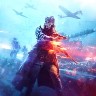 L'artwork principal (Key Art) de Battlefield V représente une femme :) !