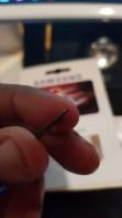 Le liseré blanc est tout simplement inexistant sur cette fausse carte SD Samsung