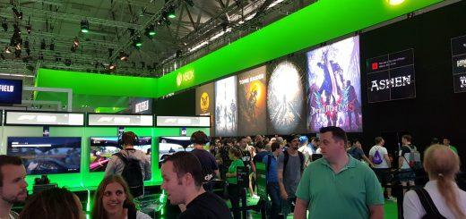 Le stand Xbox faisait la part belle aux tiers et aux indés !