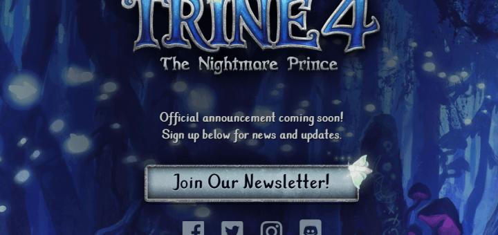 Le site internet de Trine 4 permet de s'inscrire à sa newsletter !