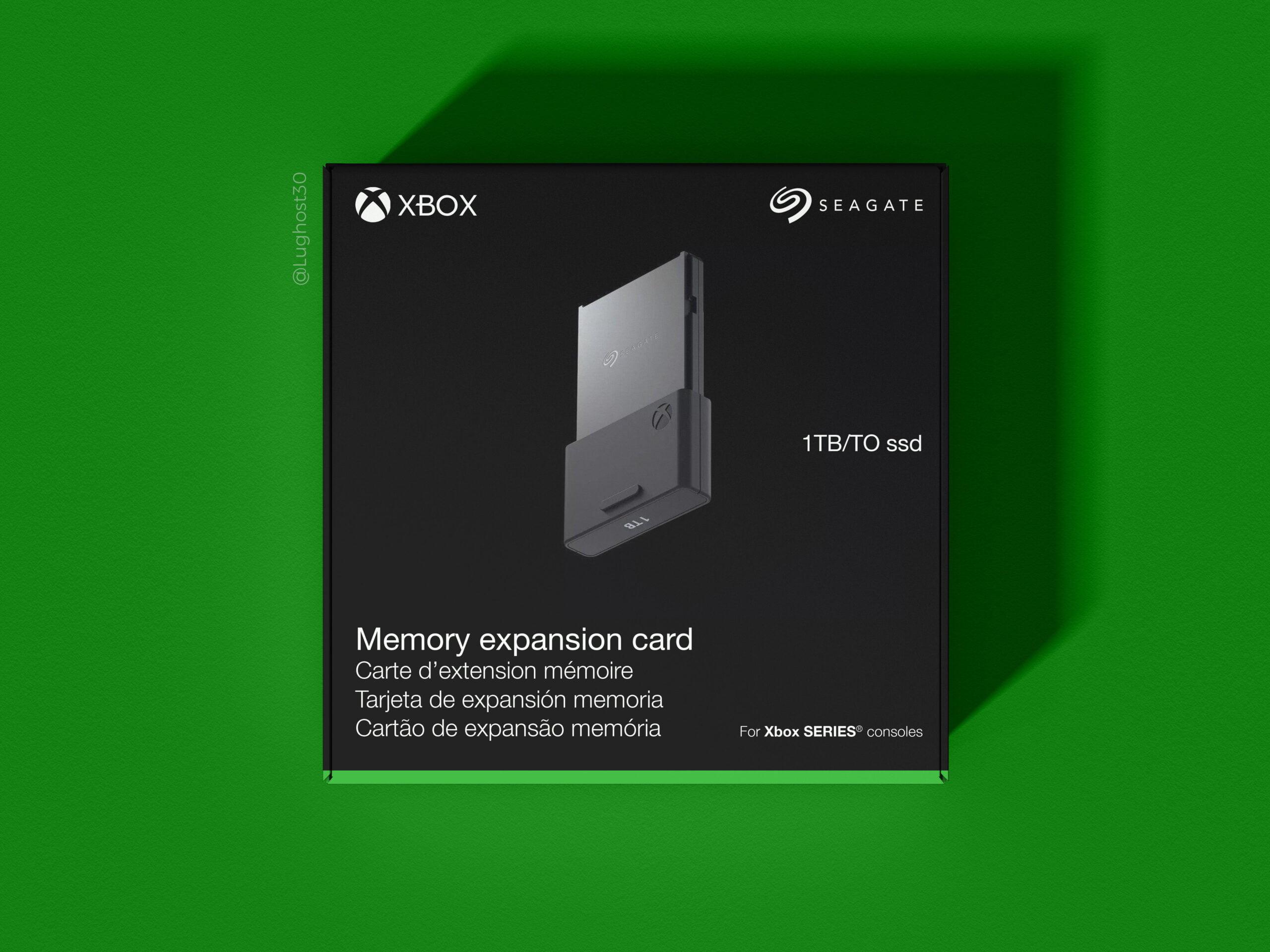 Boite de la carte mémoire Xbox Series