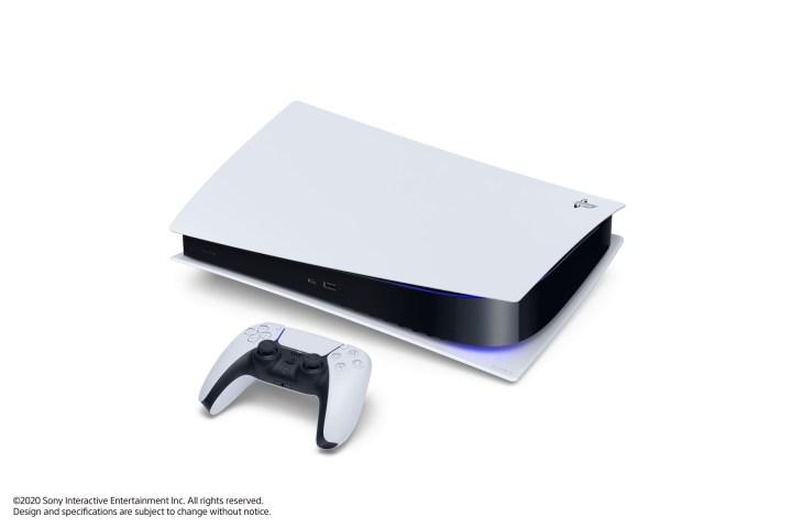 PS5 Digital Edition couchée
