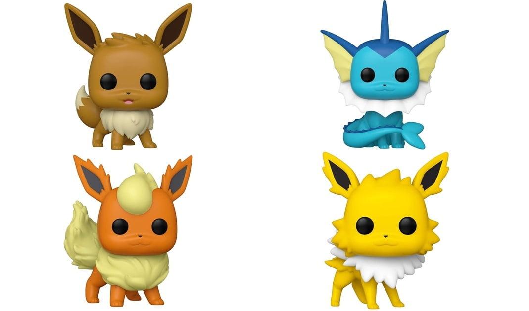 Figurines Funko POP Evoli, Aquali, Pyroli et Voltali (Pokémon)