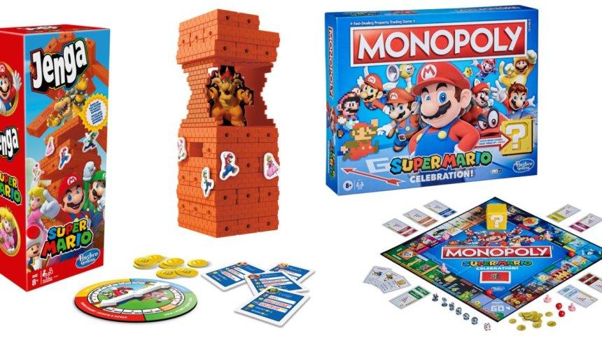 Mario Jenga et Monopoly