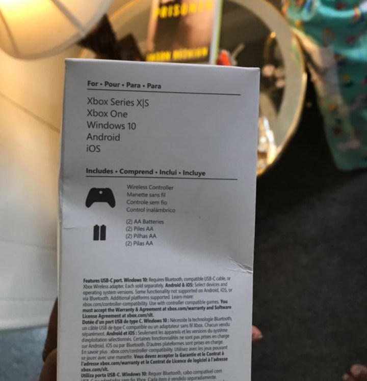 Le packaging de la manette Robot White fait mention de la Xbox Series S !