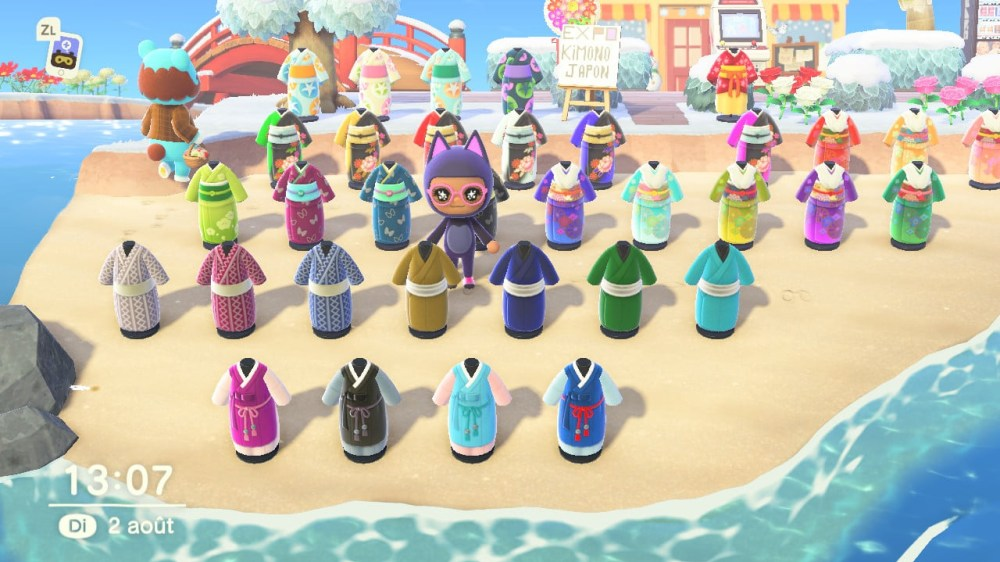 Les kimonos dans Animal Crossing