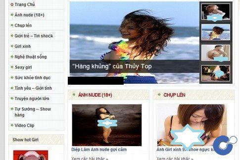 """Hàng loạt """"ảnh nóng"""" được nhiều trang web hợp pháp tung ra ào ạt dưới vỏ bọc """"kênh giải trí thông tin teen"""" khiến môi trường """"xanh-sạch-đẹp"""" của không gian Internet ngày càng khan hiếm"""