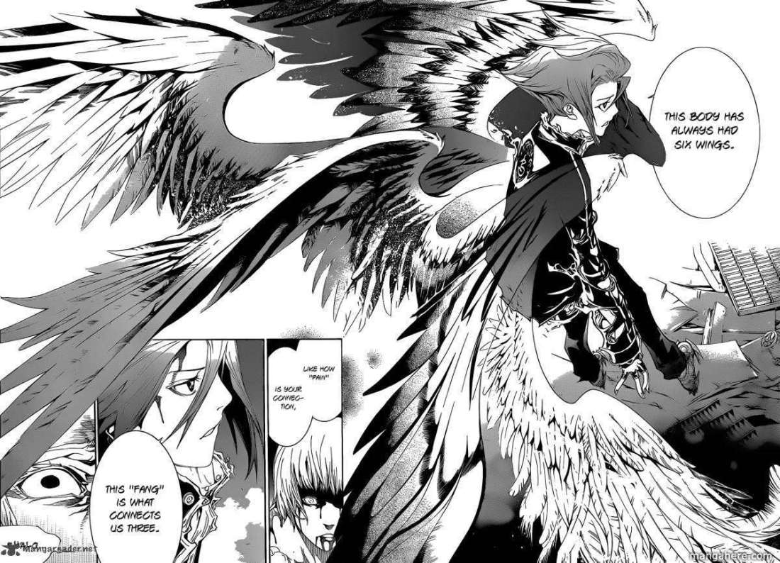 Fang with his six wings in manga Air Gear.