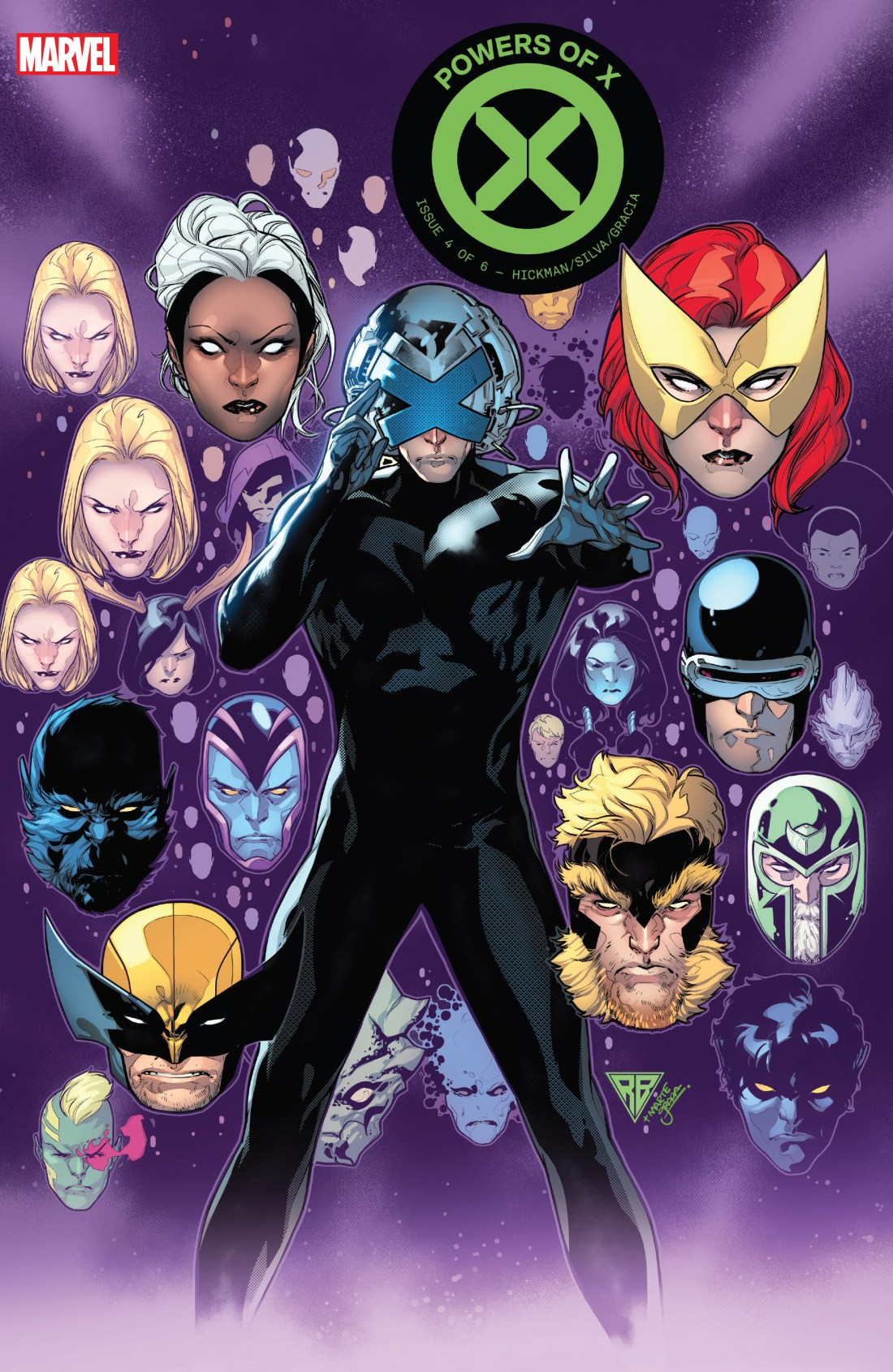 The cover of Powers of X #4, art by RB Silva.