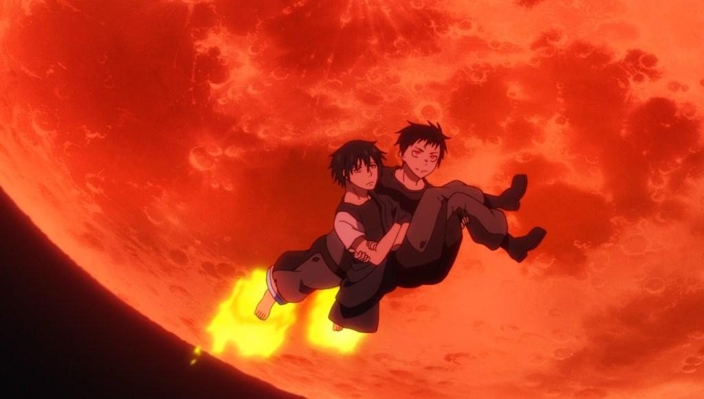 Shinra saves Benimaru from falling