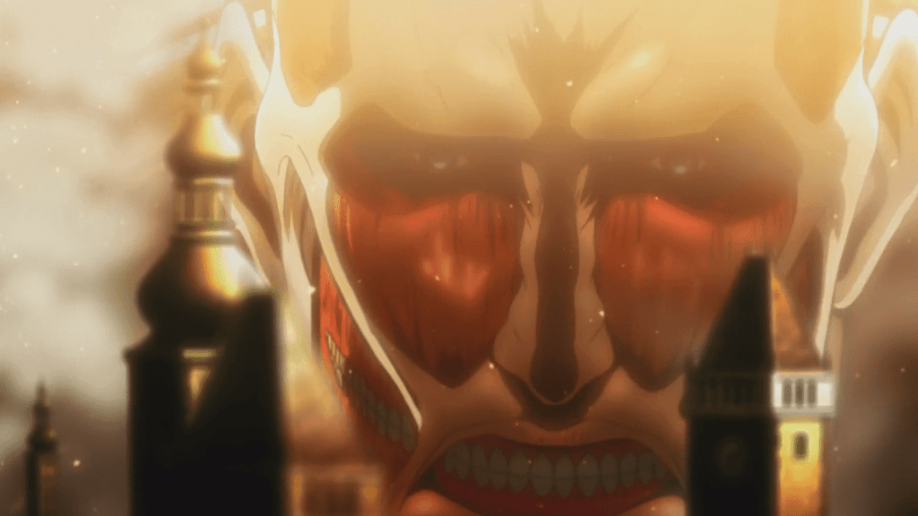In Episode 1 of Attack on Titan, the Colossal Titan