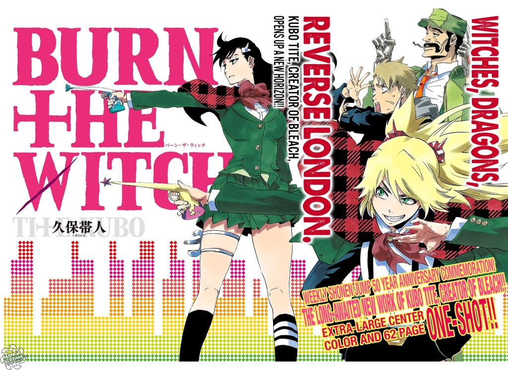 The cover of the Burn the Witch manga one shot.