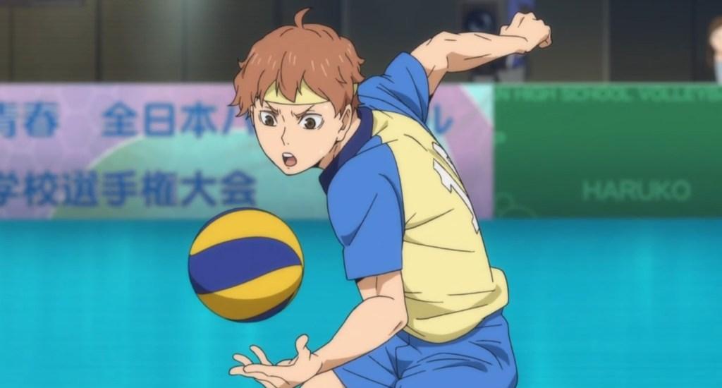 Himekawa Aoi serving underhanded