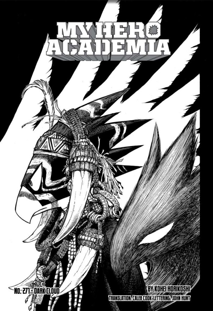 Tsukuyomi on the cover of chapter 271 in My Hero Academia.