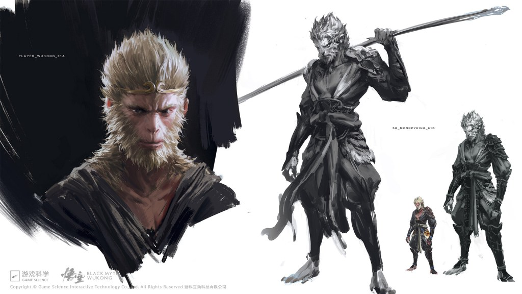 Concept art for Black Myth: WuKong