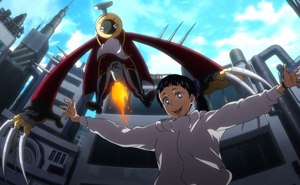 The Puppeteer and her dominator in episode 15 of Fire Force.