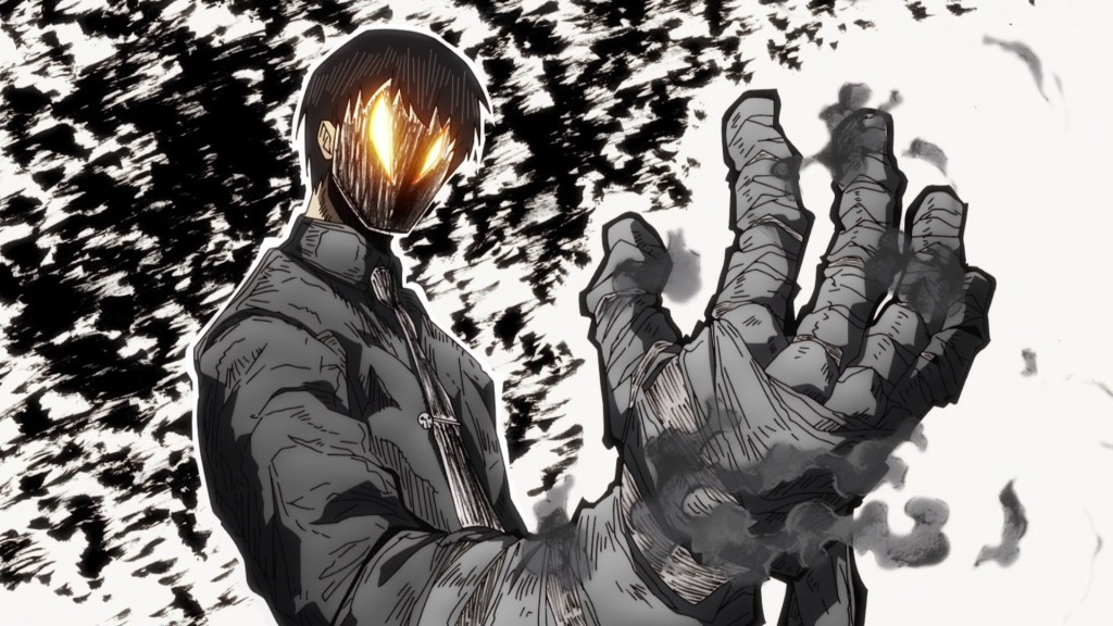 Kurono using his Right Hand Eclipse in episode 14 of Fire Force