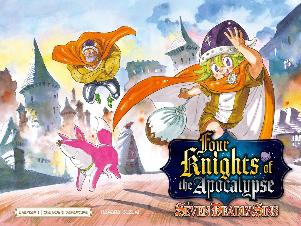 Cover of Seven Deadly Sins: Four Knights of the Apocalypse manga.