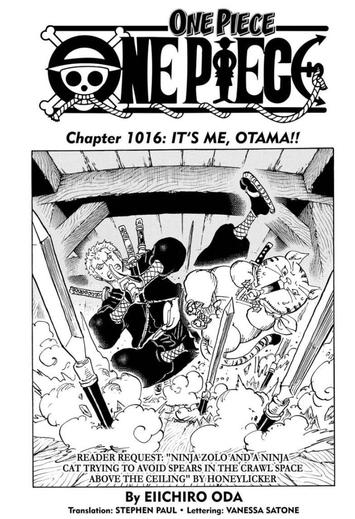 One Piece chapter 1016 cover
