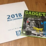 BESS岐阜で、BESSのカレンダーと、ガジェットカタログをもらってきた。