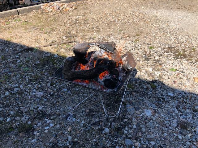 久々の焚火