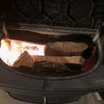 【長持ち薪】乾燥済みのスライスしたハンパ玉を焚く。