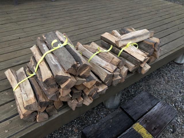 ついででしたが、バンドが余ったので選木薪も縛りました。