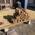 【薪割り機が使えないので】薪の束を作る