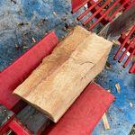 【薪割り】縦切り薪を割るのって変な感じです