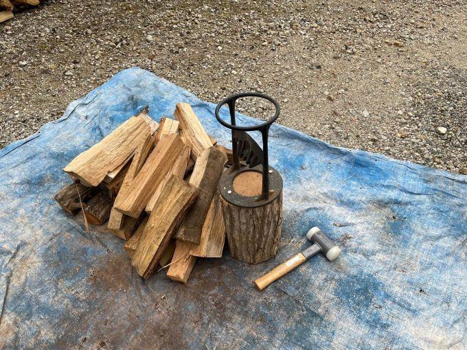【薪束作り】焚き火しながら薪束作り