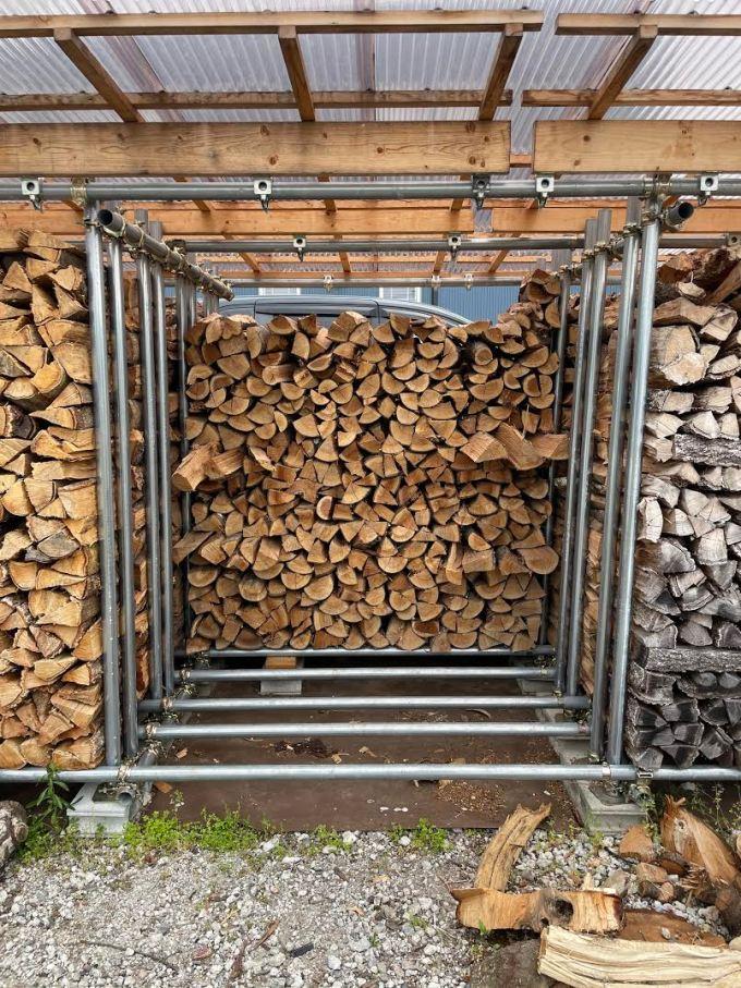 【気温が高く湿度が高くなってきたので】選木薪を積む