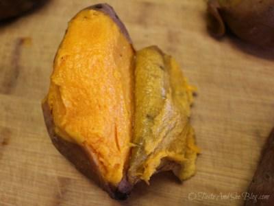 peeling sweet potatoes 091