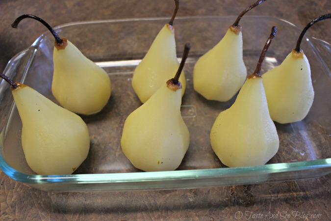 Sparkling Cider Poached Pears #ad 020