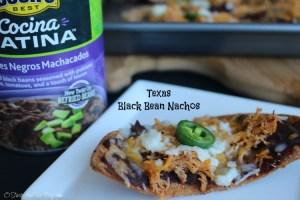 Texas Black Bean Nachos #CocinaLatinaBeans ad