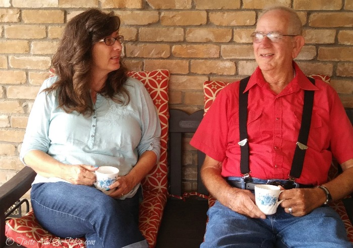 Sharing a Cup with my Favorite Veteran #sharefolgers #ad