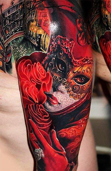 Сильвестр Сталоне в виде татуировкеи на руке